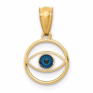 14k Evil Eye Pendant
